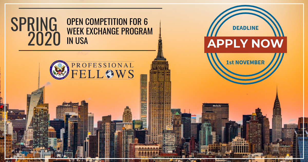 Spring 2020 Usa.Glc Teach Democracy 2 Open Competition For 6 Week Exchange